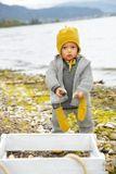 Detská bunda z merino vlny antracitová