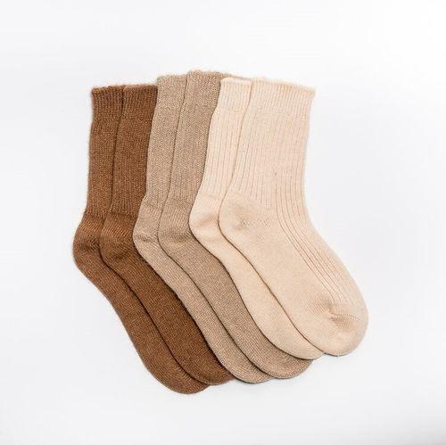 Vlnené ponožky Béžová ťava
