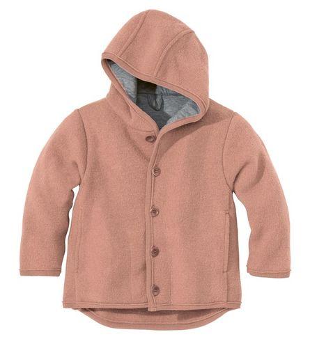 Detská bunda z merino vlny ružová