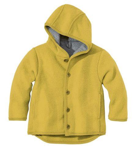 Detská bunda z merino vlny žltá