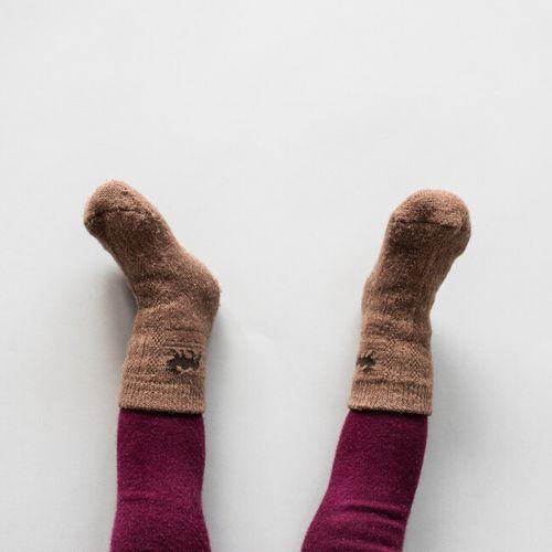Detské vlnené ponožky Hnedá ťava