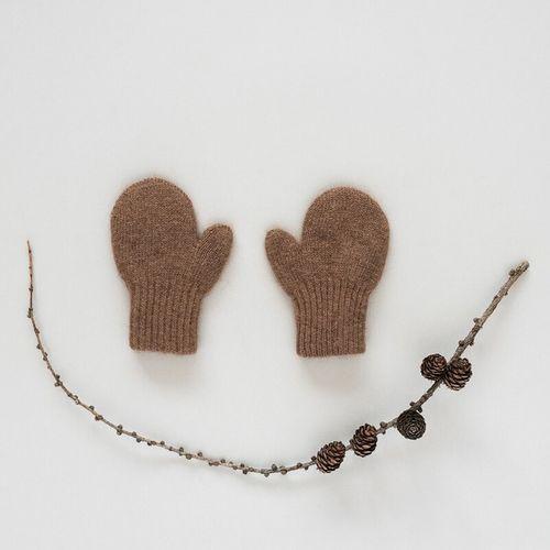 Detské vlnené rukavice Hnedá ťava