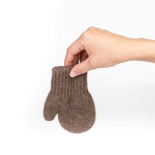 Detské vlnené rukavice Hnedý jak