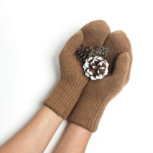 Dospelácke rukavice Hnedá ťava