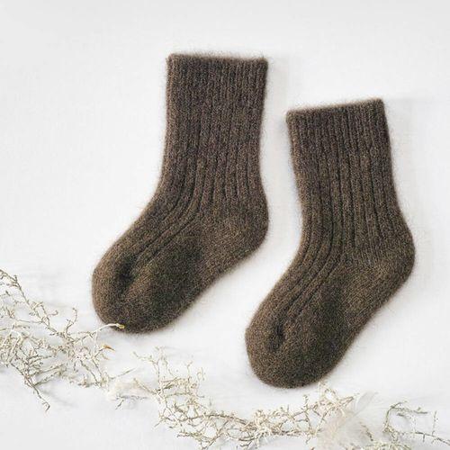 Detské vlnené ponožky Hnedý jak