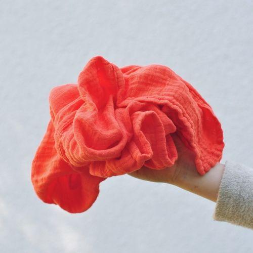 Mušelínová šatka oranžová Spicy orange