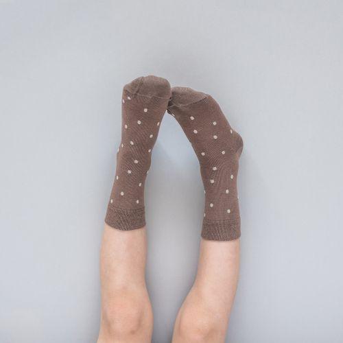 Detské ponožky Hnedé bodky