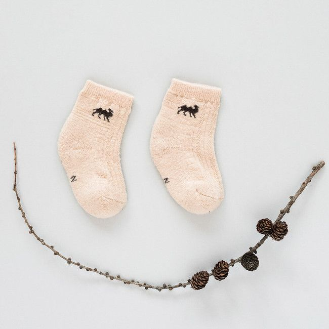 Detské vlnené ponožky Béžová ťava