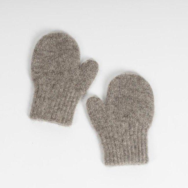 Detské vlnené rukavice Sivý jak