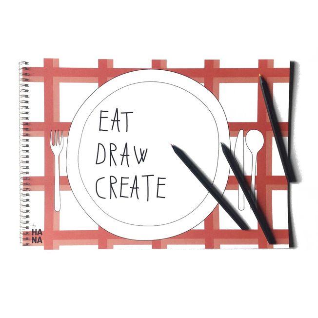 Pracovný zošit Eat, draw, create