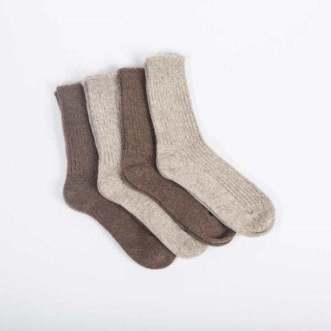 Vlnené ponožky Hnedý jak - výpredaj