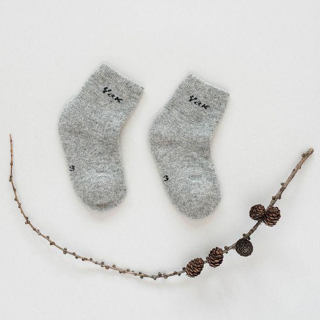 Detské vlnené ponožky Sivý jak