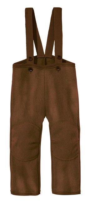 Detské vlnené nohavice hnedé