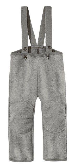 Detské vlnené nohavice sivé