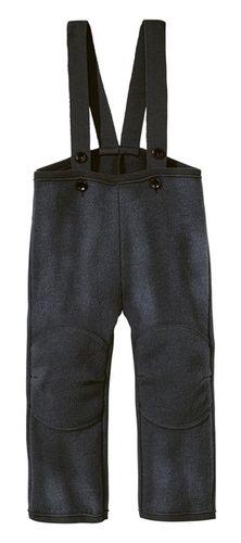 Detské vlnené nohavice antracitové