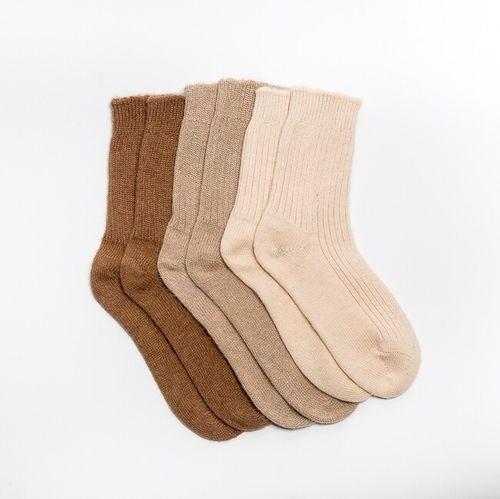 Vlnené ponožky Hnedá ťava